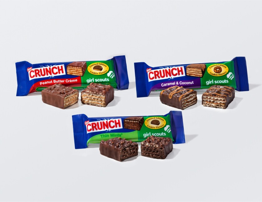 Girl Scout cookie candy bars