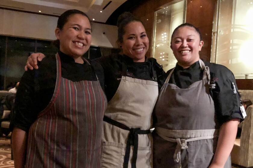 Chefs Cheryl Cruz (center), Marites Cotillon (left) and Annika Racadio are making magic at Jamul Casino's Prime Cut steakhouse.