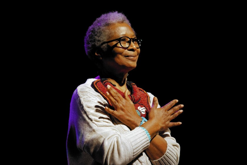 Author Alice Walker will talk about life and writing during an on-stage interview for the 25th annual Writer's Symposium by the Sea at Point Loma Nazarene University. The event is sold out.