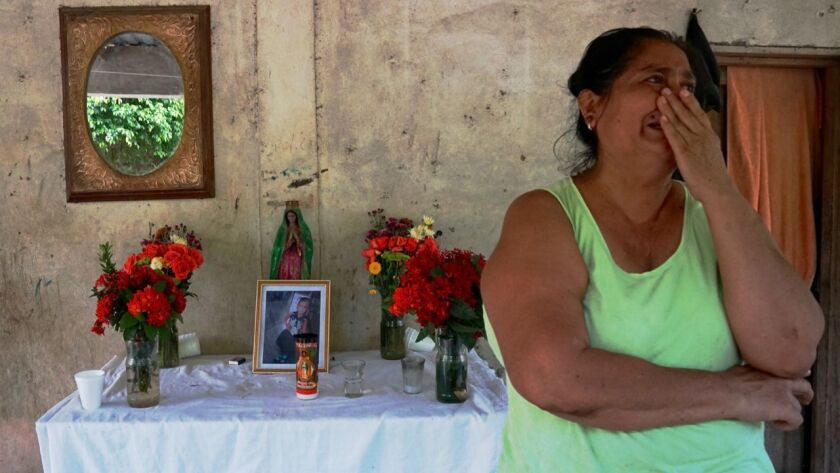 Celia Alicia Ochoa Aguilar mourns for granddaughter Juana Anastasia Miranda Aguilar, 3, in Valle Lirio, Guatemala. Juana Anastasia was among four Guatemalans, including three children, found dead on June 23 outside McAllen, Texas. Her mother survived and is in U.S. custody.