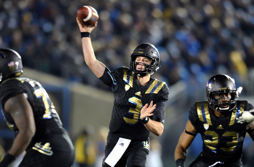 UCLA's young but poised Josh Rosen looms as a peril to USC