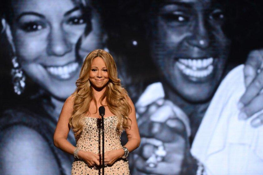 Mariah Carey at the BET Awards.