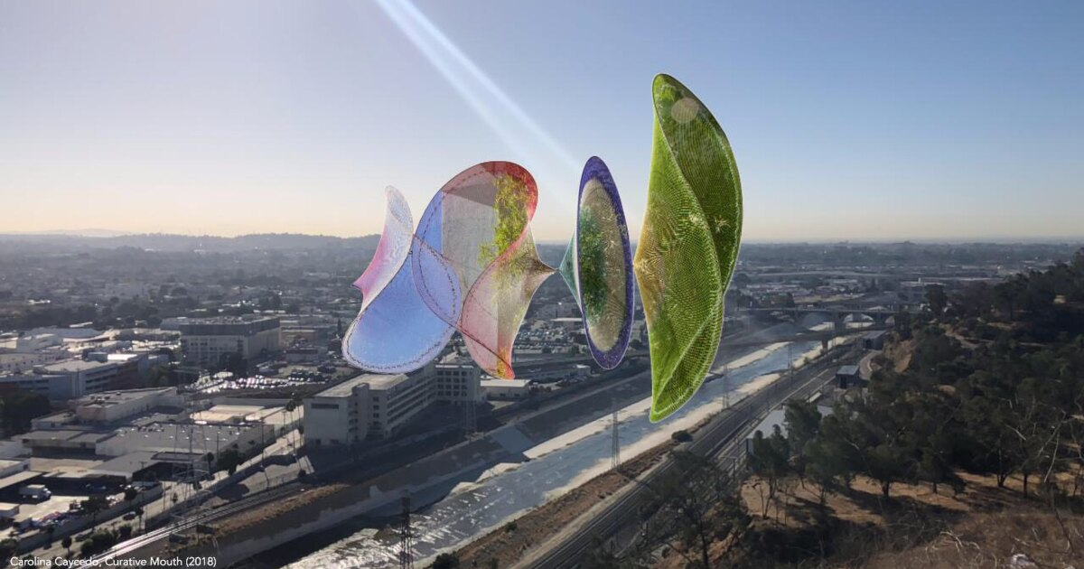 How virtual art appearing along the L.A. River tackles gentrification, immigration and environmental issues - Los Angeles Times