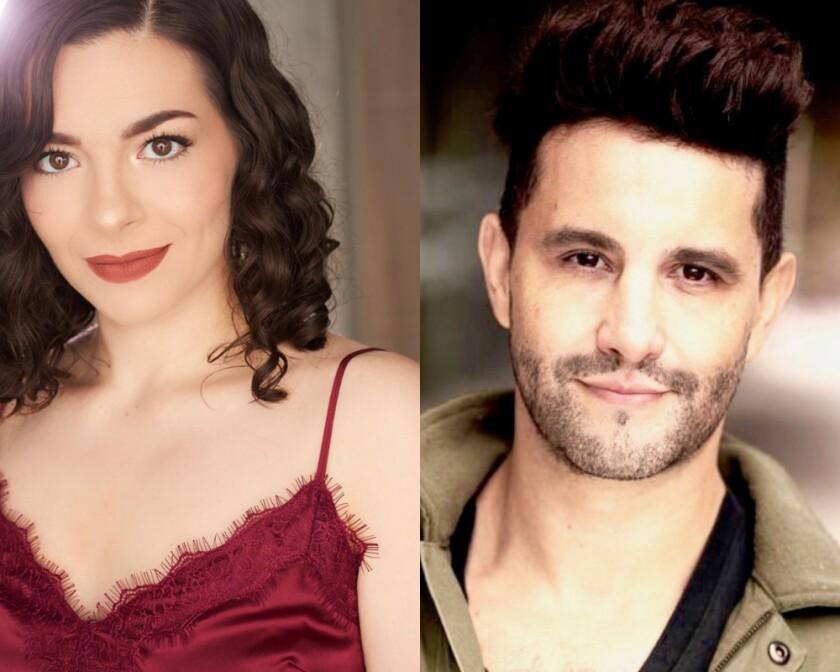 "Ariella Kvashny and Eduardo Enrikez co-star in Moonlight Stage Productions' ""On Your Feet!"""