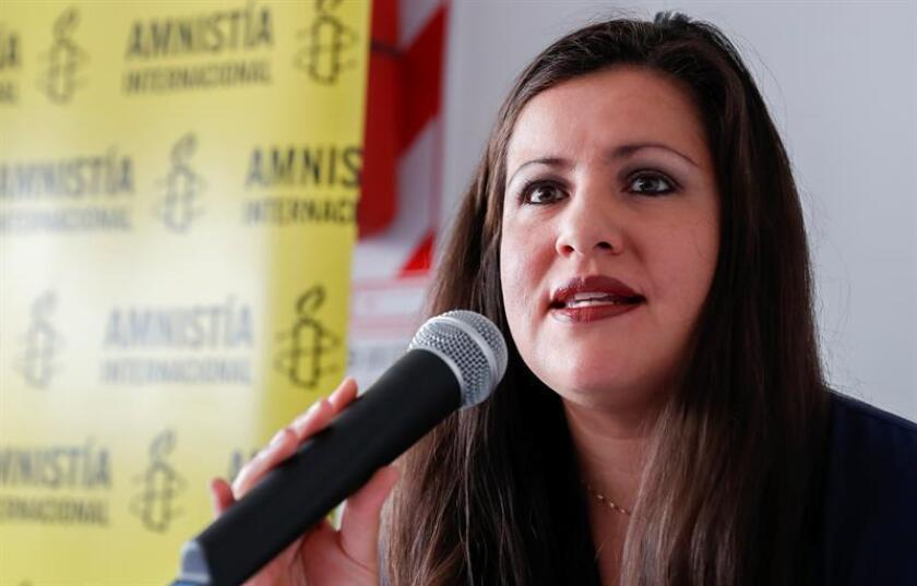 La directora de Amnistía Internacional para las Américas Érika Guevara. EFE/Archivo