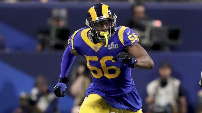 Rams edge rusher Dante Fowler had two sacks last season.