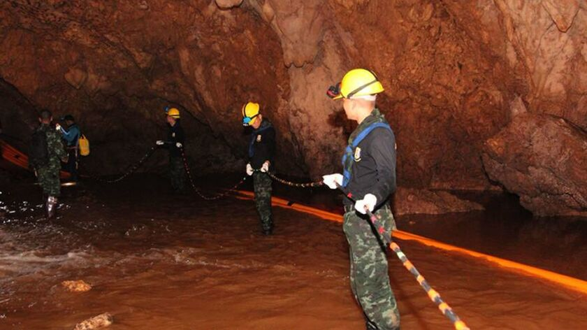 Former Thai Navy diver dies in cave rescue operation of Thai youth soccer team, Chiang Rai, Thailand - 06 Jul 2018