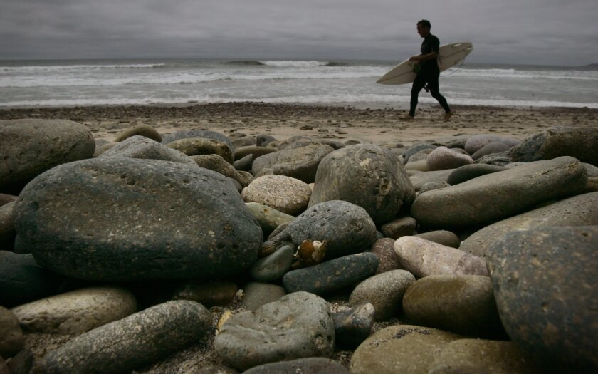 The Coastal Commission in 2011 approved a project to replenish sand along San Diego County beaches, including Imperial Beach where cobbles are exposed in areas. Work is scheduled to start in early September.