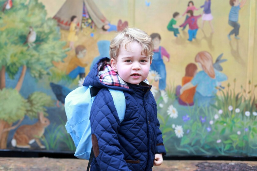 Prince George's first day at nursery school
