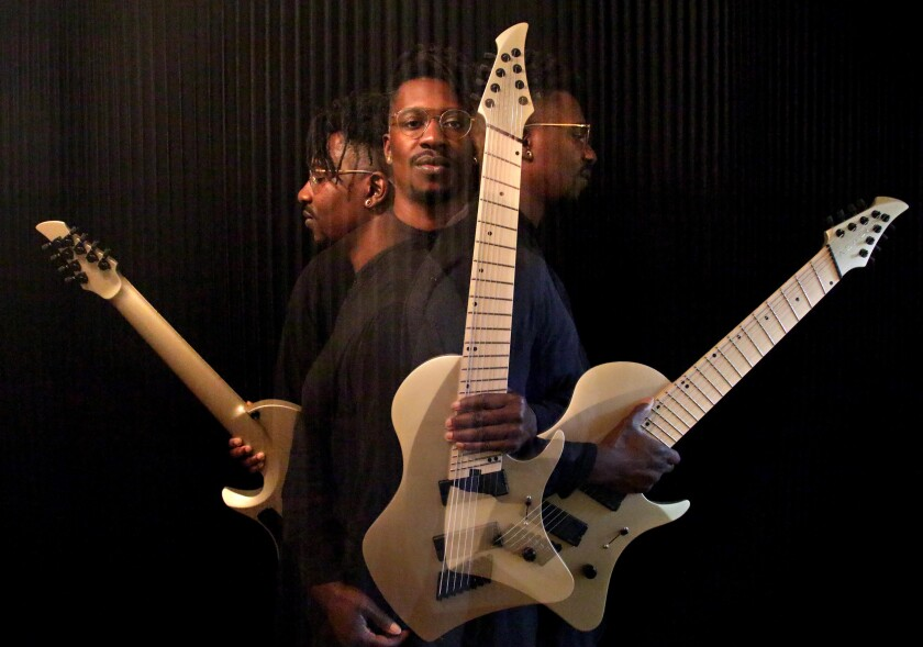 Tosin Abasi, lead guitarist for the L.A. progressive metal band Animals as Leaders.