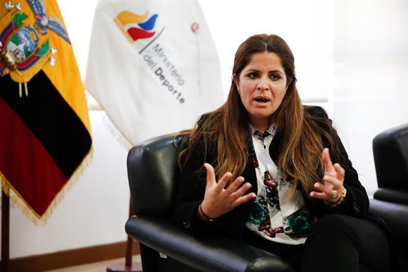 La ministra de Deporte de Ecuador, Andrea Sotomayor. EFE/Archivo