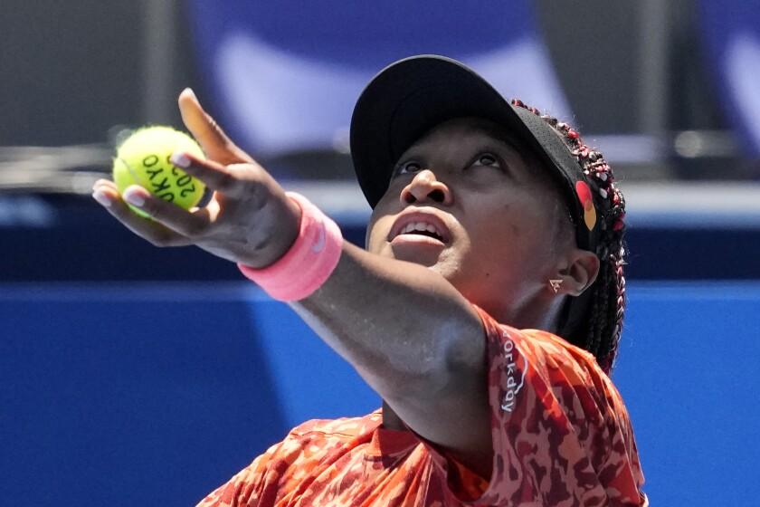 Novak Djokovic durante un entrenamiento en el Centro de Tenis Ariake previo a los Juegos Olímpicos