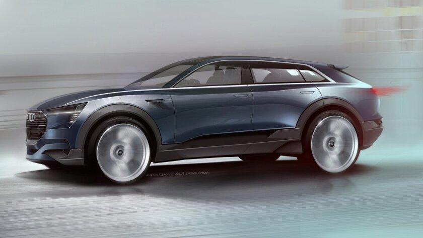 Audi's e-tron quattro concept SUV.