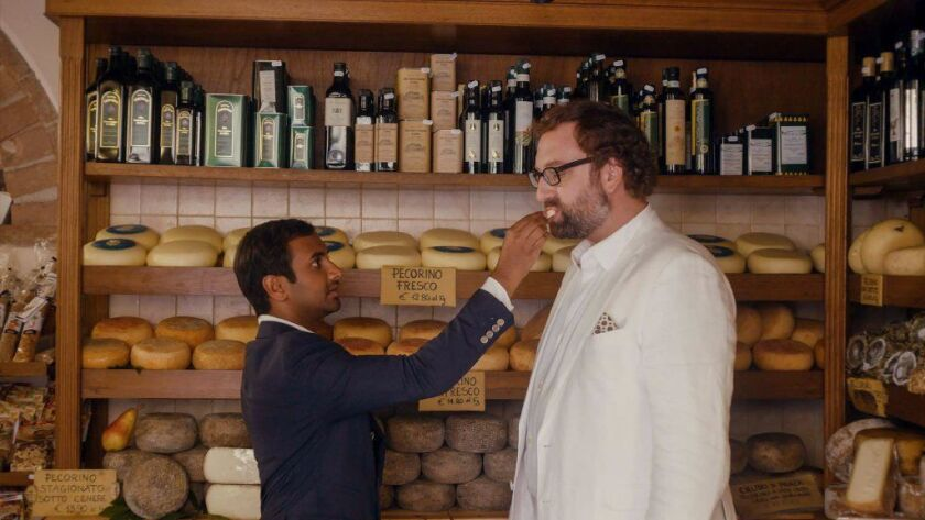 la-et-master-of-none-netflix -- Actors Aziz Ansari, left, and Eric Wareheim in a scene from the Ne