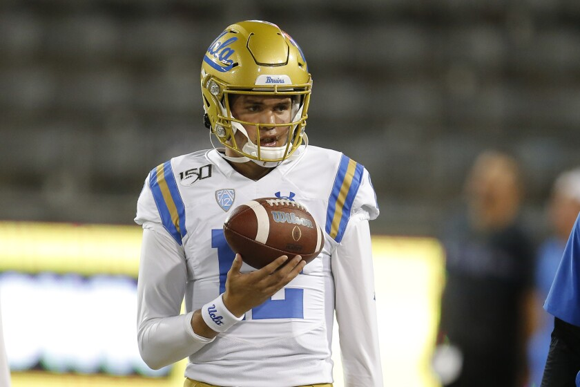 UCLA quarterback Austin Burton likely will start against Oregon State on Saturday.