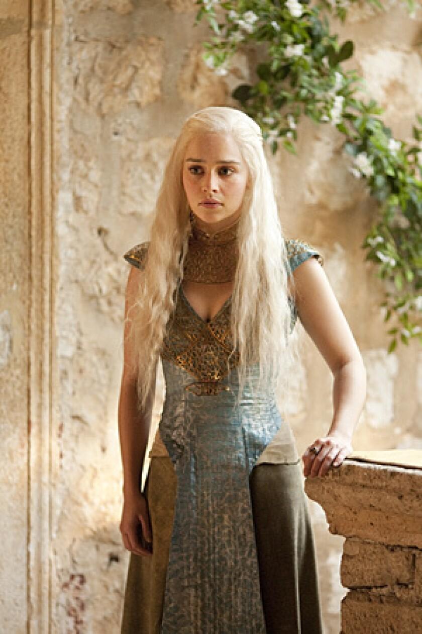 Emilia Clarke as Daenerys.