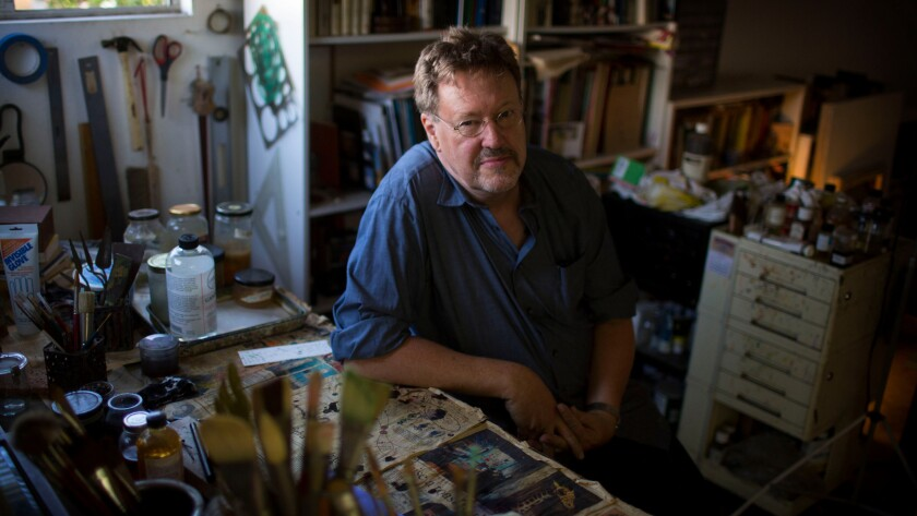 Painter Tom Knechtel in his Mar Vista studio.