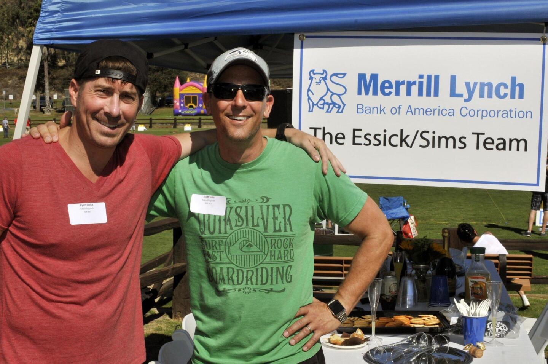 Ryan Essick and Scott Sims of event major sponsor Merrill Lynch