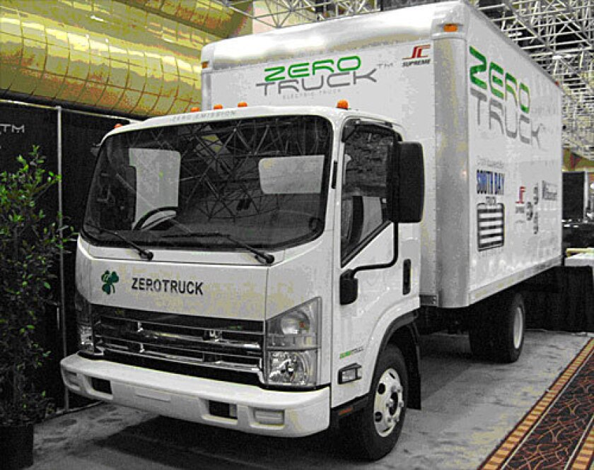 The ZeroTruck is a working prototype of the first U.S.-built Class-4 electric truck.