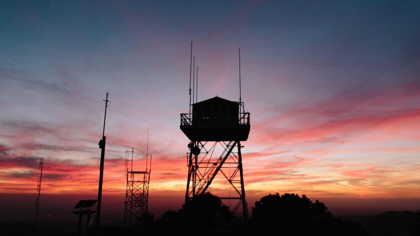 At nearly 5,000 feet up, and 40 steps off the ground, the old fire tower offers some stunning sunsets.