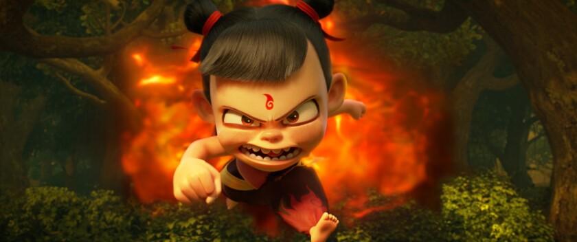 """Nezha, a literal demon child, in the animated film """"Ne Zha."""""""