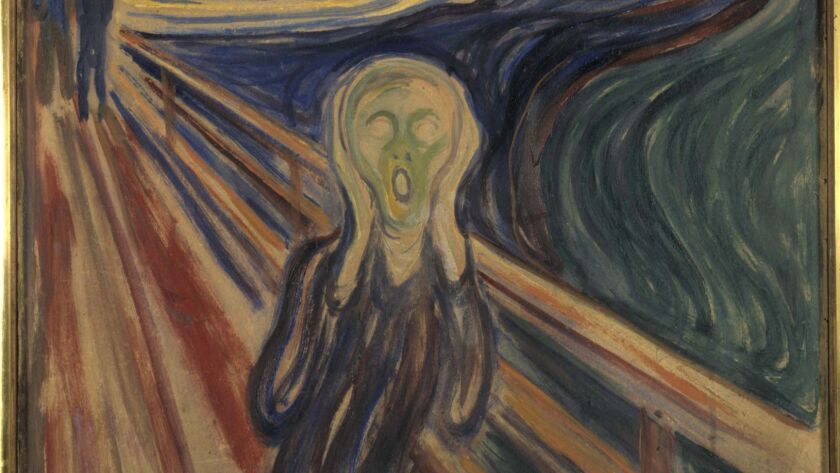 "This undated photo showing the version of Edvard Munch's ""The Scream,"" which was stolen from the Mun"