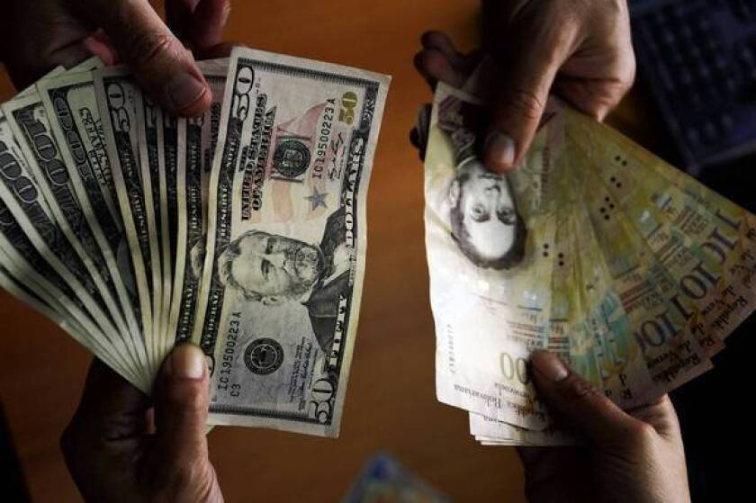 Venezuela's official exchange rate for its currency, the bolivar, is 6.3 to the dollar, but that price is rarely available. Individuals and businesses needing dollars for foreign travel or to import goods and services generally must resort to the black-market exchanges.