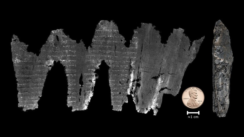 Scientists read fragile, ancient scroll without opening it