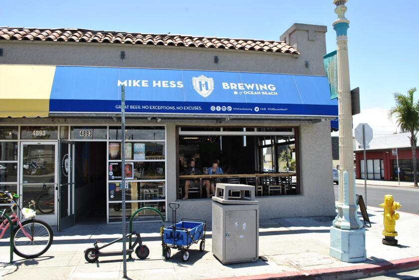 The Mike Hess Tasting Room is at 4893 Voltaire St. in the Ocean Beach area of San Diego.
