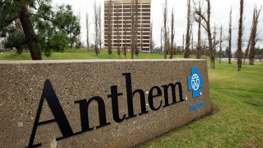 The Anthem Blue Cross office building in Woodland Hills.