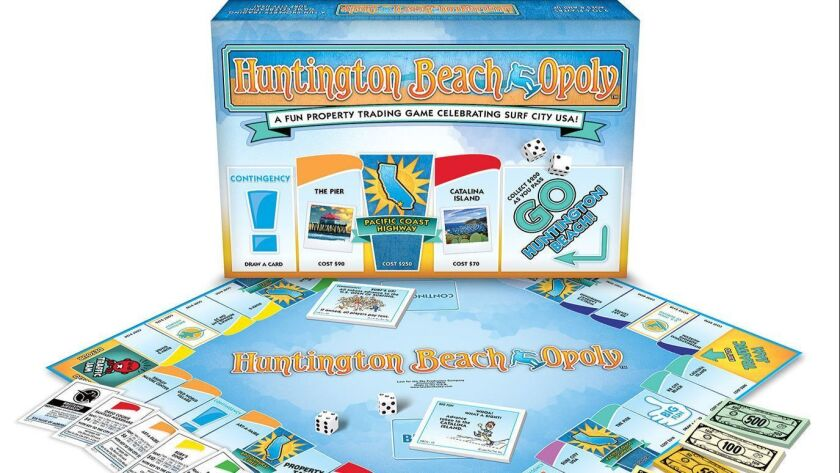 Want A Piece Of Huntington Beach New Monopoly Inspired Board Game Lets You Land On The Iconic Spots Los Angeles Times
