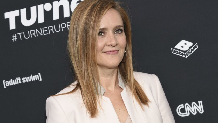 Samantha Bee attends the Turner Network 2016 Upfronts in New York.