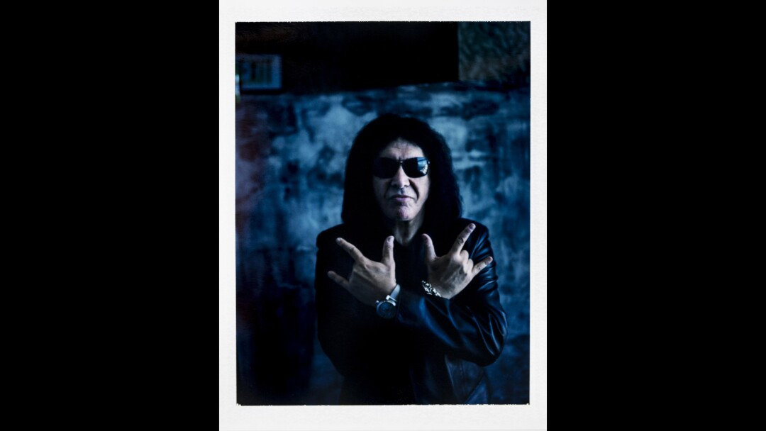 Gene Simmons of KISS photographed at Comic-Con 2015 in San Diego