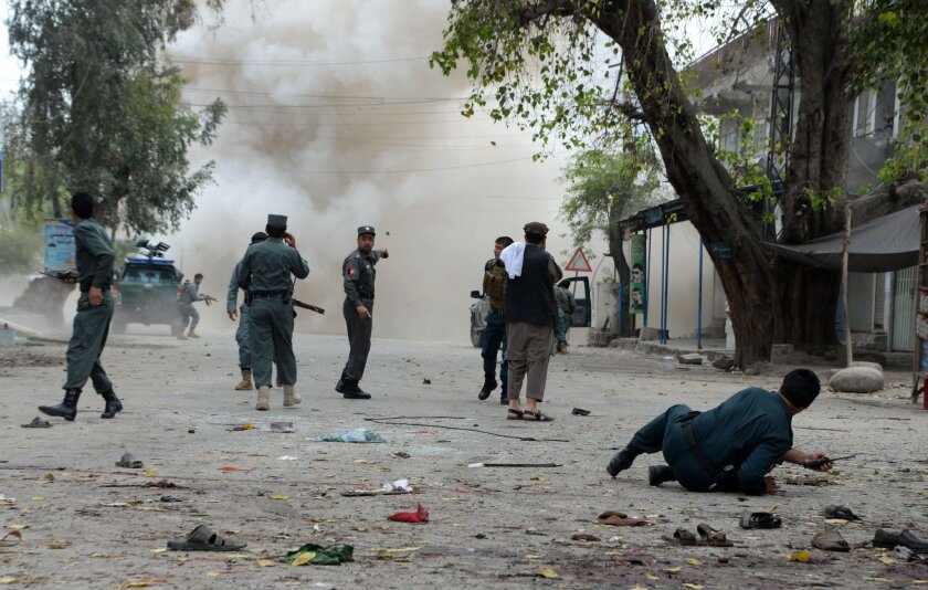 Attack outside a bank in Jalalabad