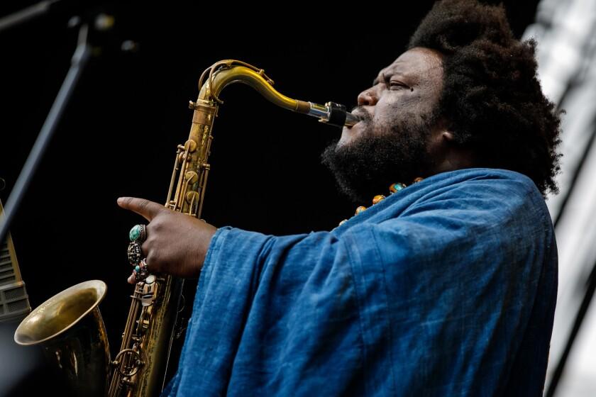Kamasi Washington performs at the Arroyo Seco Weekend