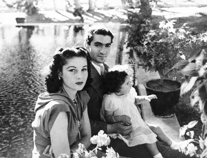 In this 1942 photograph, Princess Fawzia, left, is shown with her husband, Mohammad Reza Pahlavi, the future shah of Iran, whom she divorced in 1948. He was deposed in the 1979 Islamic revolution.