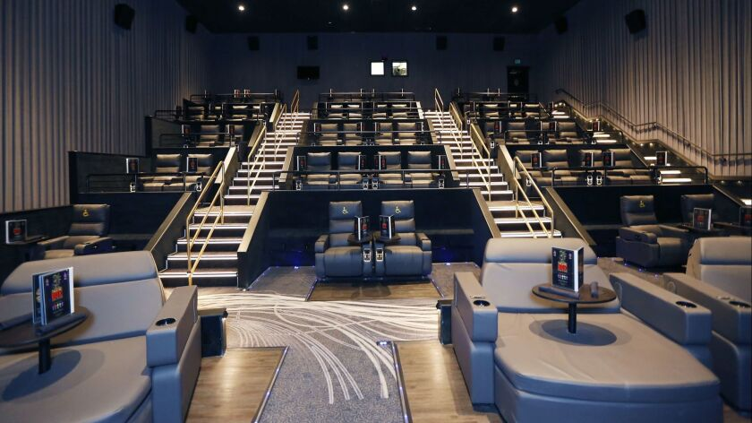 The Theatre Box, a 73,000 square-foot building housing luxury movie theaters, dinning and entertainm