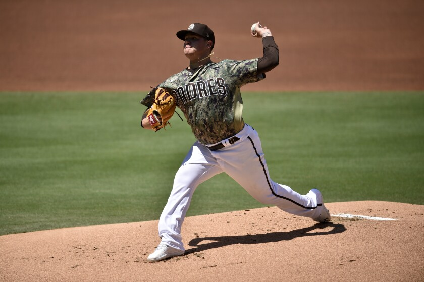 Padres pitcher Adrian Morejon was placed on the IL Saturday.