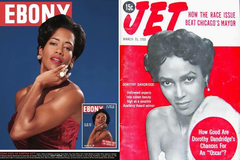 Ebony and Jet magazine covers