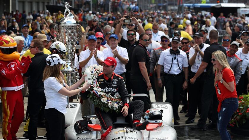 Australian driver Will Power with Team Penske celebrates in Victory Lane after winning the 102nd running of the Indianapolis 500 last weekend. The race was considered the biggest in motorsports, but lost some of its shine in recent years.