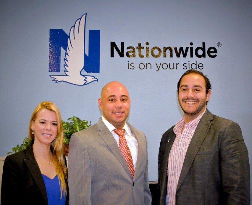 Nivya Felix, Frank Amorim and Omar Abunadi of Nationwide Insurance