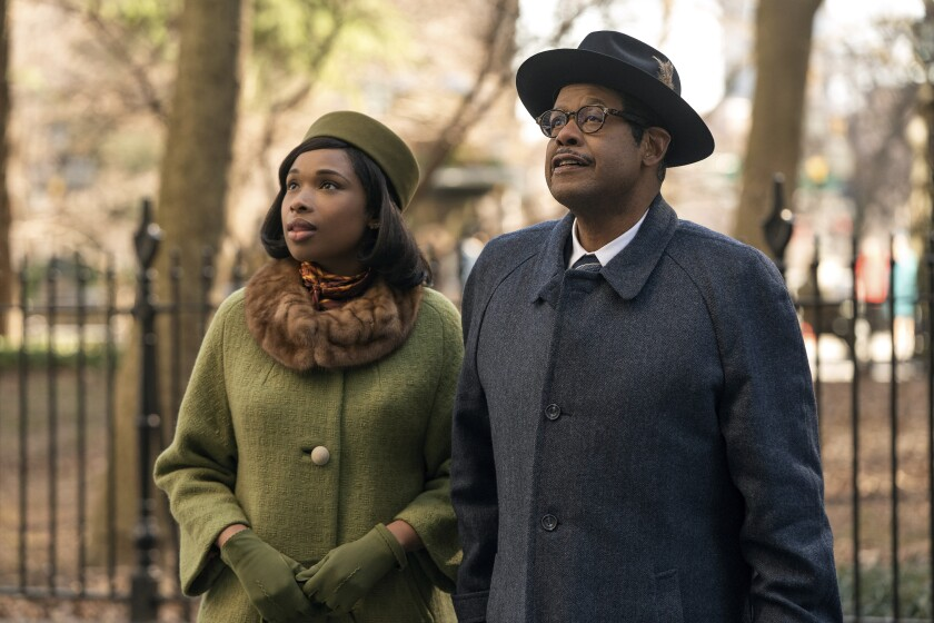 """Jennifer Hudson as Aretha Franklin and Forest Whitaker as C.L. Franklin in """"Respect"""""""