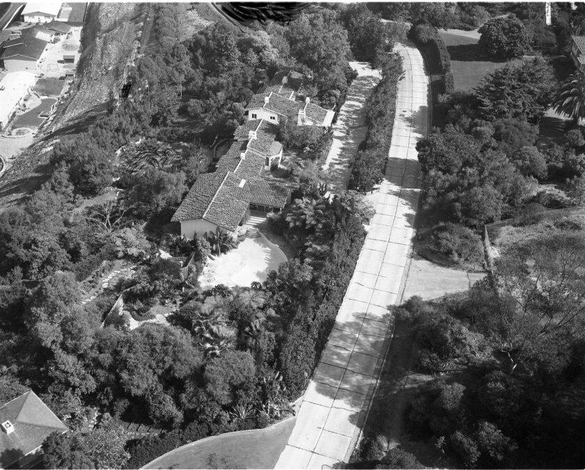 Hillside Drive circa 1950