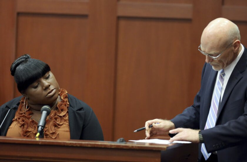 Rachel Jeantel and Zimmerman defense attorney Don West