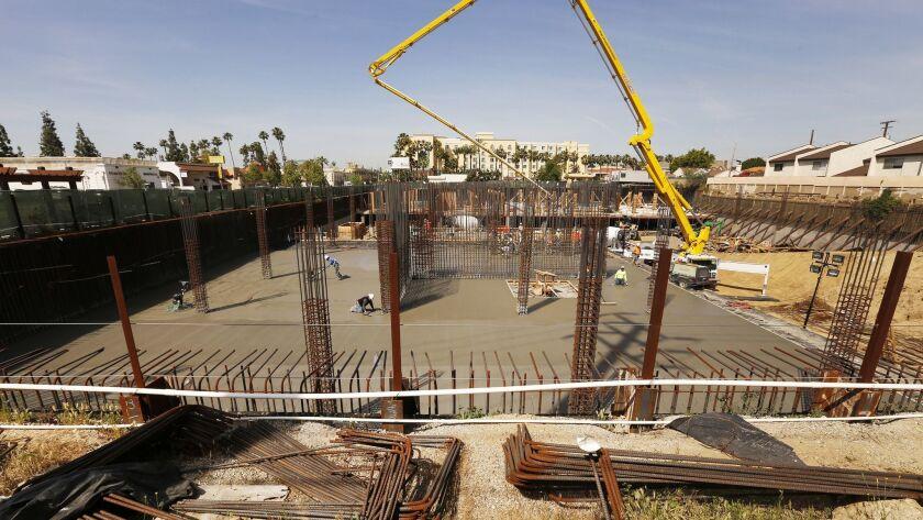 SAN GABRIEL, CA - APRIL 5, 2017- Construction is underway for the Hyatt Place San Gabriel project lo