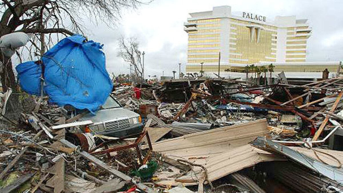 Mississippi Casinos Trump Katrina Los Angeles Times