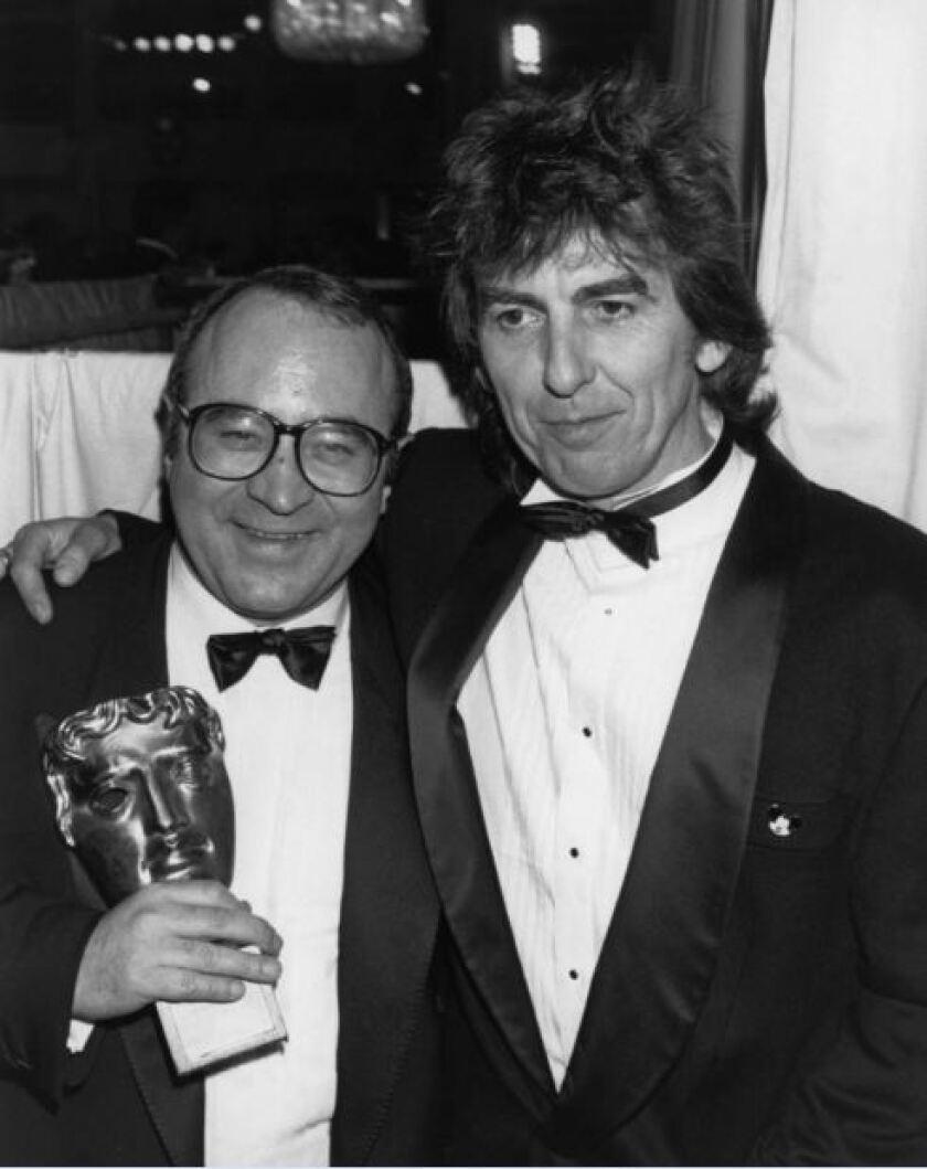 Actor Bob Hoskins and former Beatle George Harrison