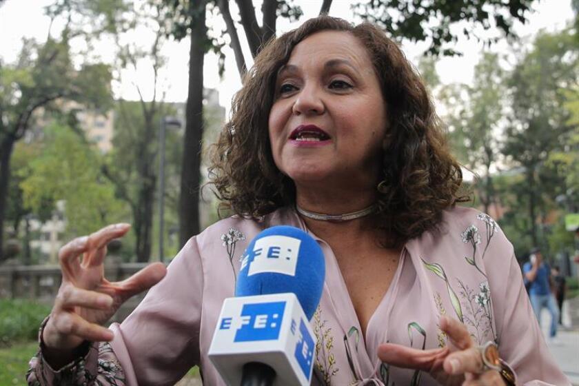 En la imagen un registro de la periodista mexicana Sanjuana Martínez, durante una entrevista con Efe, en Ciudad de México (México). EFE/Archivo