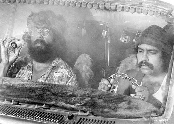 """Tommy Chong hires improv comedian Richard """"Cheech"""" Marin to perform between the bands and strippers at his family's Vancouver, Canada, night club. Nine years later, the godfathers of the stoner flick give birth to their first movie, """"Up in Smoke."""""""