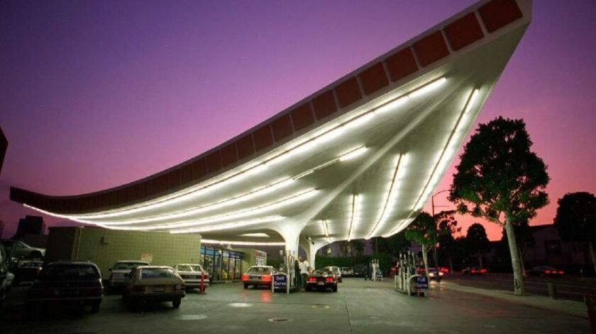 The Union 76 gas station in Beverly Hills designed by Gin Wong.